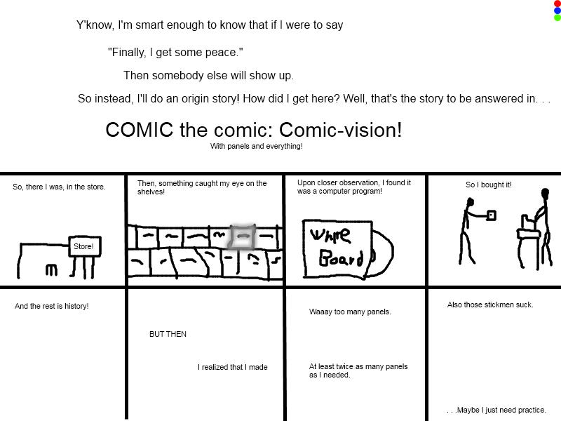 COMIC the Comic: Comicvision!